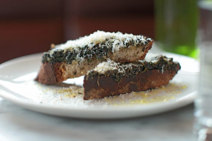 The nettle toast at Reynard.