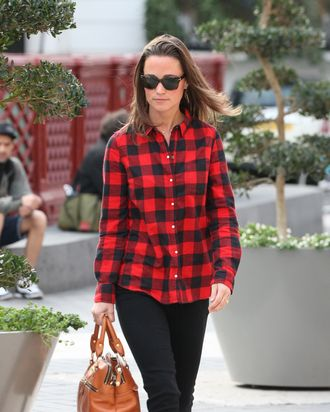 Pippa in flannel.