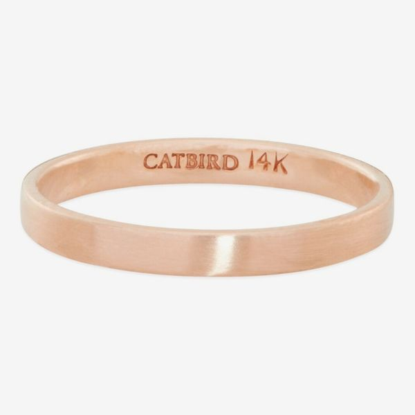 Catbird Classic Wedding Bands, 14K Flat Band, 2MM