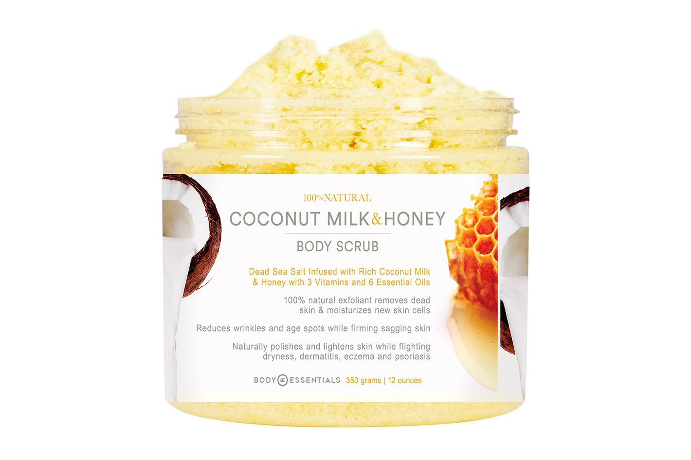 Body Essentials Coconut Milk & Honey Comb Body Scrub With Dead Sea Salt
