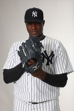 TAMPA, FL - FEBRUARY 27:  Michael Pineda #35 of the New York Yankees poses for a portrait during the New York Yankees Photo Day on February 27, 2012 in Tampa, Florida.  (Photo by Nick Laham/Getty Images) *** Local Caption *** Michael Pineda