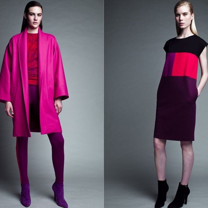 Two looks from Narciso Rodriguez's collection for Kohl's.