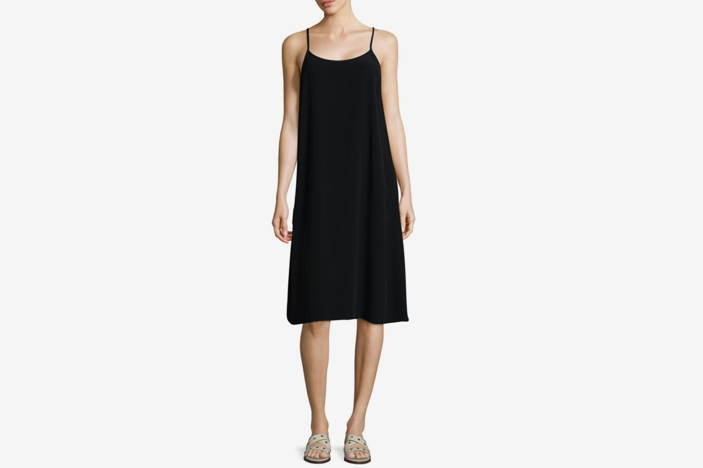 Eileen Fisher Crinkle Crepe Camisole Dress