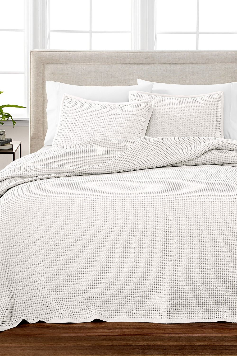 Martha Stewart Collection Waffle Queen Oversized Blanket