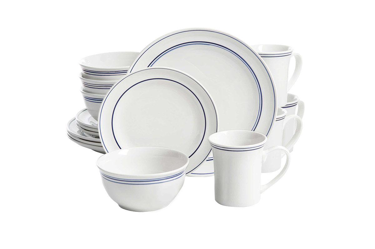 Gibson Home Porto 32-Piece Dinnerware Set in Blue