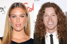 Bar Rafaeli and Shaun White.