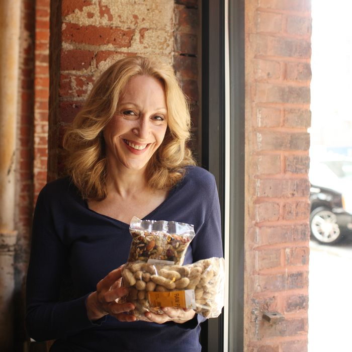 Jan Maxwell goes wild at the Nut Box.