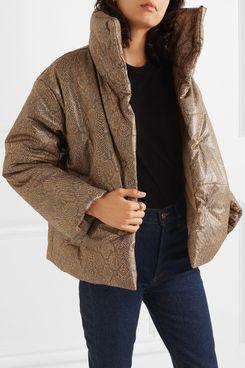 Nanushka Quilted Vegan Leather Jacket