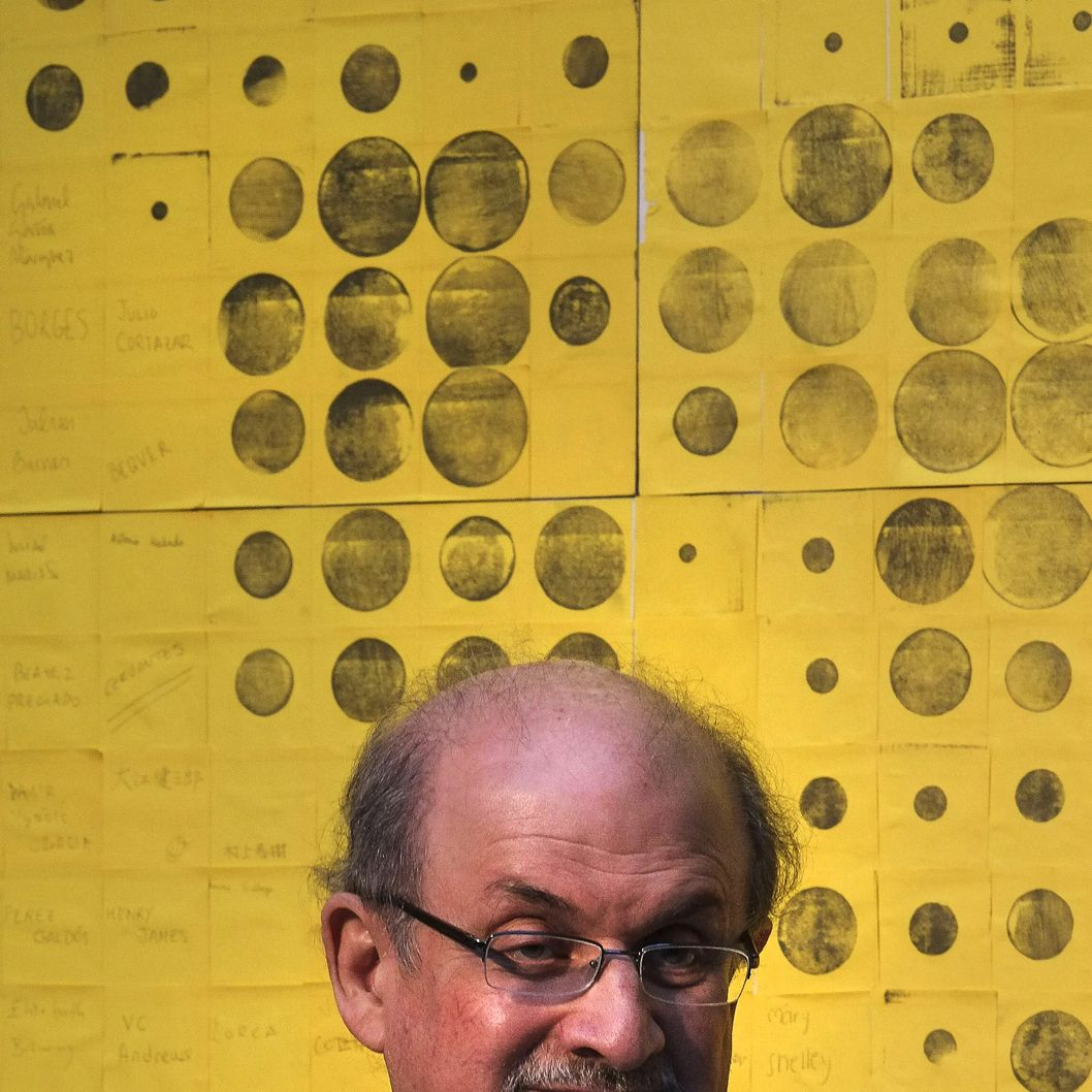 "Indian born British author Salman Rushdie attends the launch of the ""Night of Books"" in Madrid on April 23, 2014.  AFP PHOTO / PEDRO ARMESTRE        (Photo credit should read PEDRO ARMESTRE/AFP/Getty Images)"