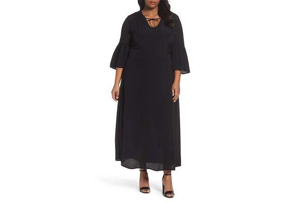 Bell Sleeve A-Line Maxi Dress