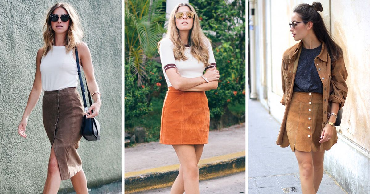 You Can Still Wear a Suede Skirt in Summer
