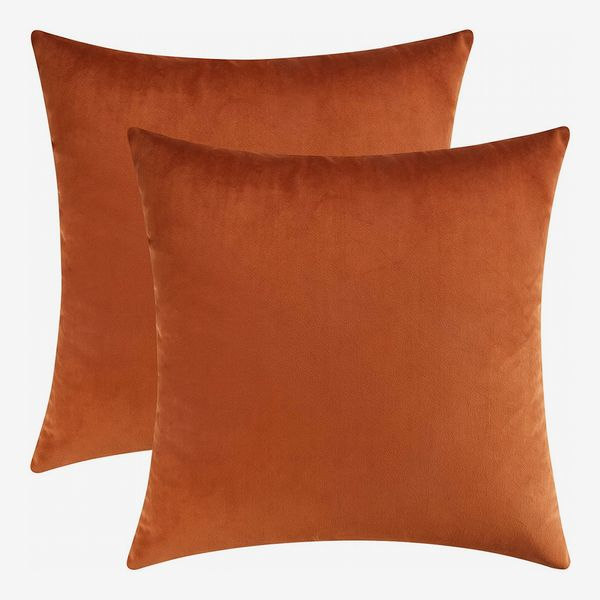 Mixhug Set of 2 Cozy Velvet Square Decorative Throw Pillow Covers, 18 x 18 Inches