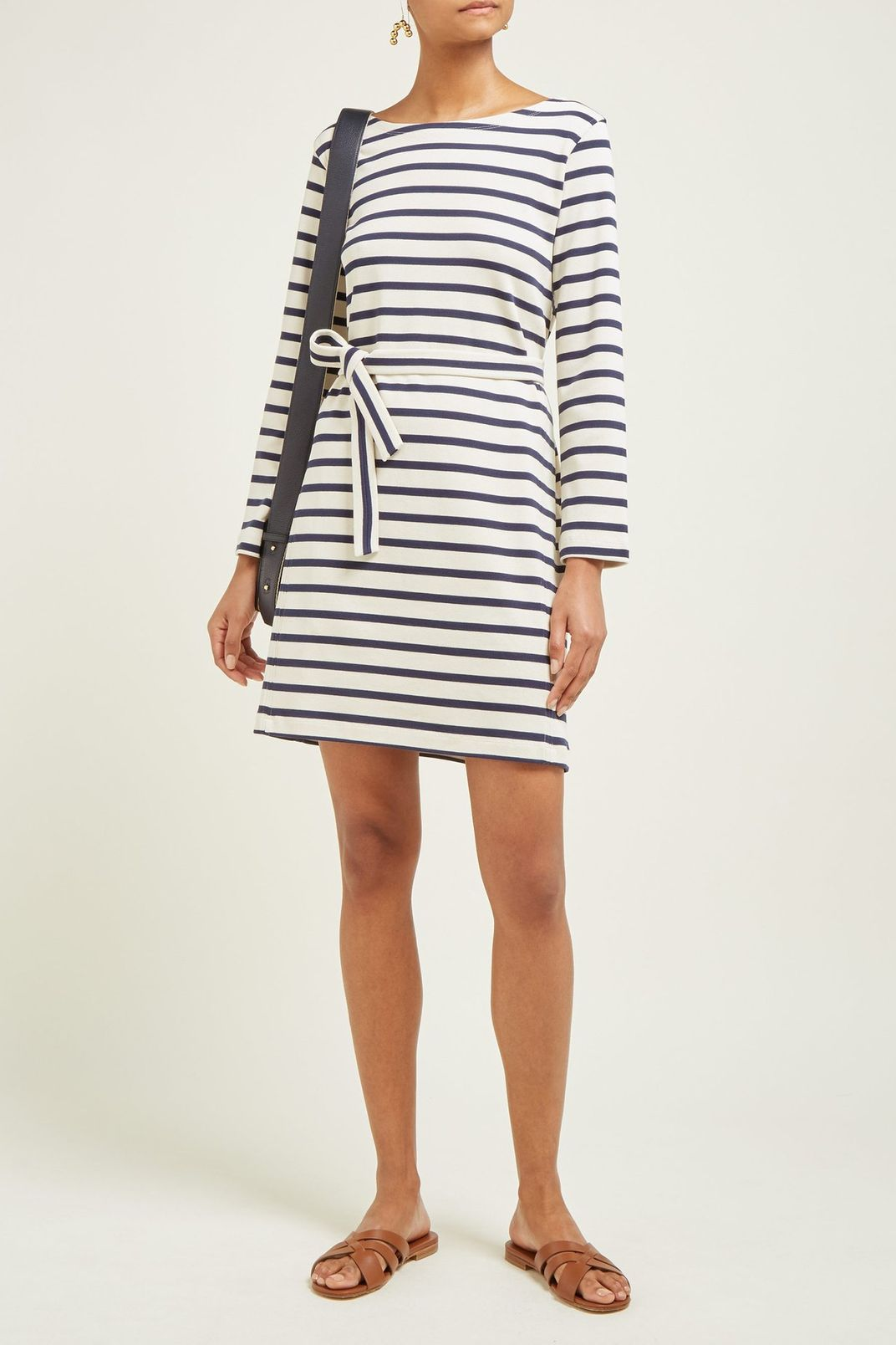 A.P.C. Instant Striped Cotton-Jersey Dress