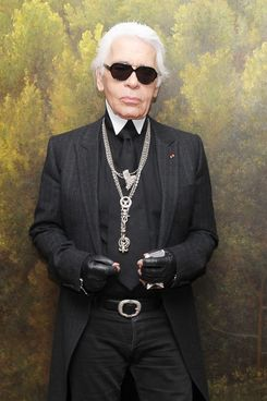 "Karl Lagerfeld attends the press conference of ""Chanel and Japan"" at Park Hyatt Tokyo on March 23, 2012 in Tokyo, Japan."