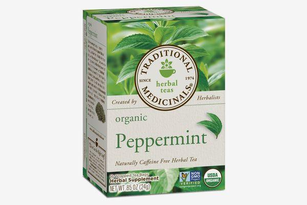 Traditional Medicinals Organic Peppermint Tea, 16 Tea Bags (Pack of 6)