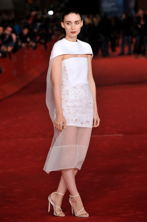 "US actress Rooney Mara arrives for the premiere of the film ""Her'' during the 8th Rome International Film Festival on November 10, 2013, in Rome."