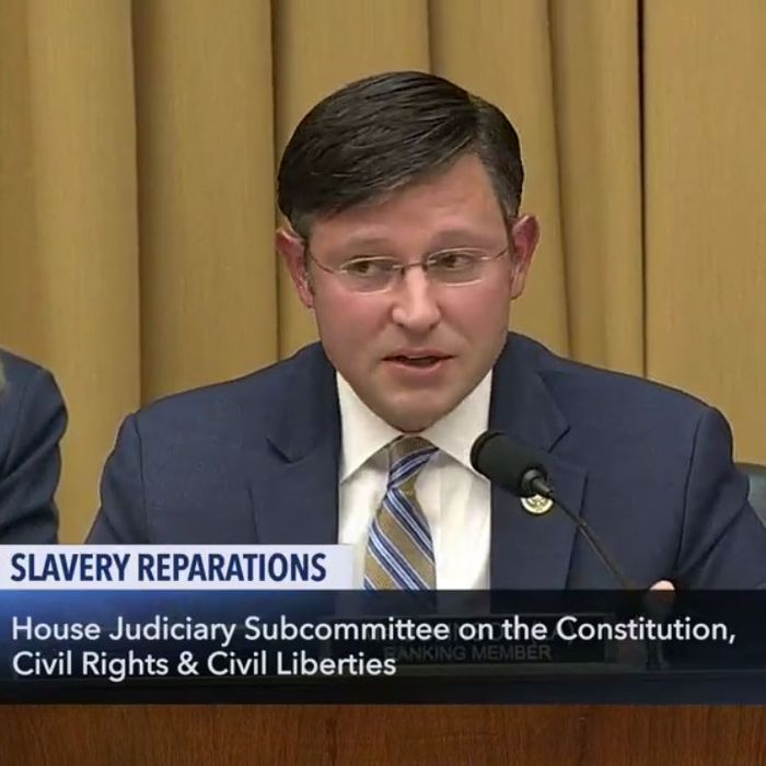 Representative Mike Johnson, Republican from Louisiana, at Wednesday's House Judiciary hearing on reparations.