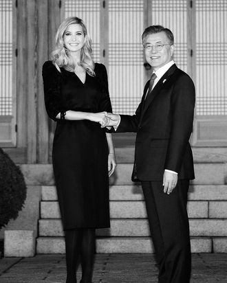 Ivanka Trump and South Korean president Moon Jae-in.
