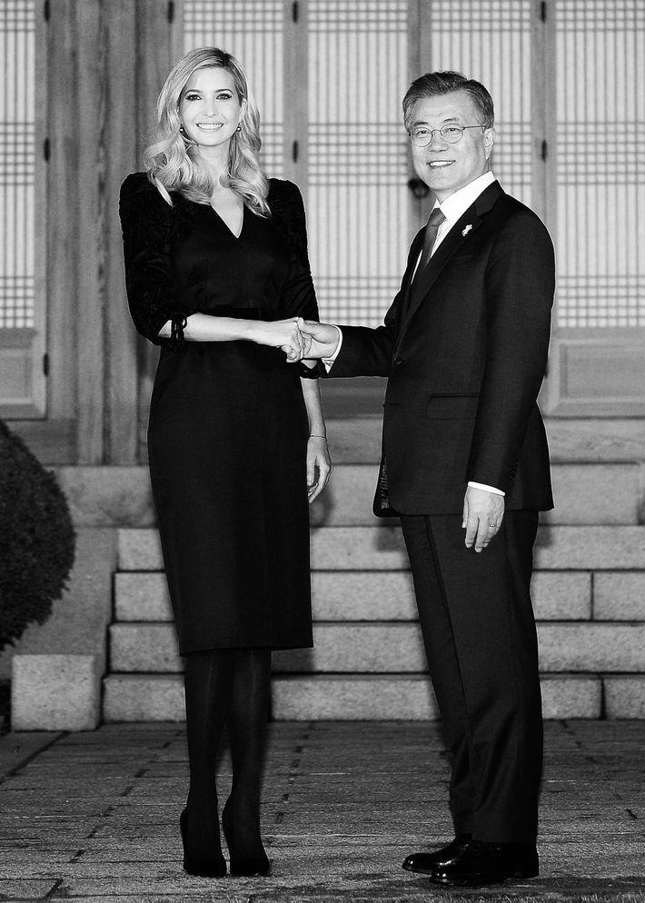 Ivanka Trump and South Korean president Moon Jae-in.