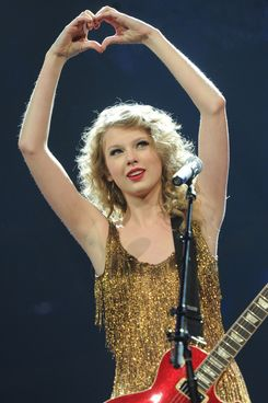 NASHVILLE, TN - MAY 21:  4-time Grammy winner Taylor Swift took the unprecedented step of opening the last dress rehearsal for her Speak Now Tour for fans as a fundraiser to benefit victims of recent deadly tornadoes in the Southeast. The sold-out show raised over $750,000.00 and was held at the Bridgestone Arena in Nashville, Tennessee on May 21, 2011.  (Photo by Rick Diamond/Getty Images)