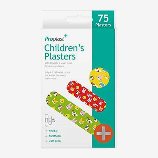 75 x Animal Children's Plasters Assorted Sizes Various Animal Prints Colours
