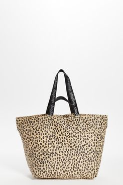 Baggu Leopard Tote with Shopbop Double Straps