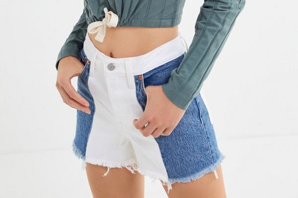 Levi's Wedgie High-Rise Denim Short, Two-Toned