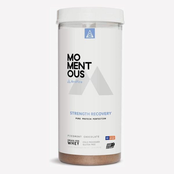 Momentous Strength Recovery Grass-Fed Whey Protein Isolate, 1.36 lb.