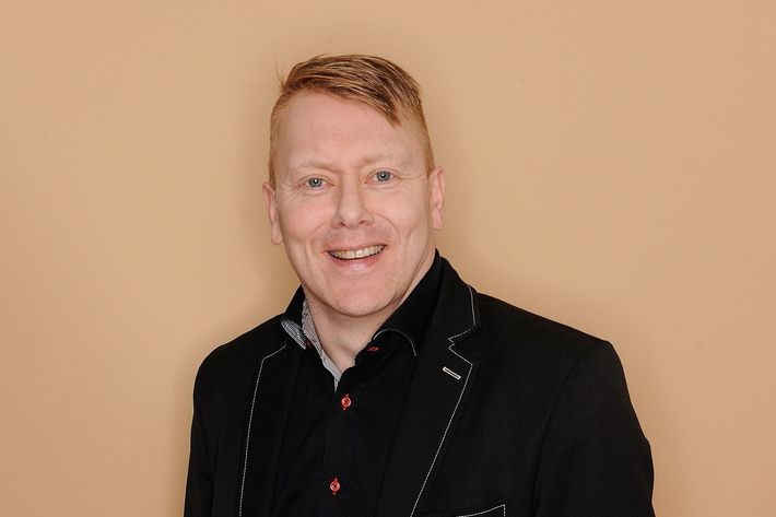 Mayor of Reykjavik, Iceland, Jon Gnarr visits the Tribeca Film Festival 2011 portrait studio on April 22, 2011 in New York City.