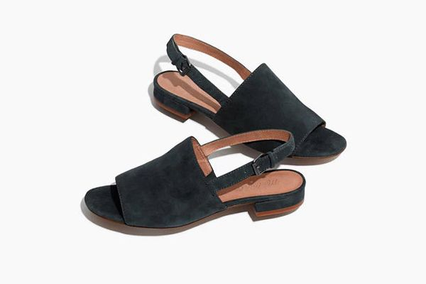 The Noelle Slingback Sandal in Suede