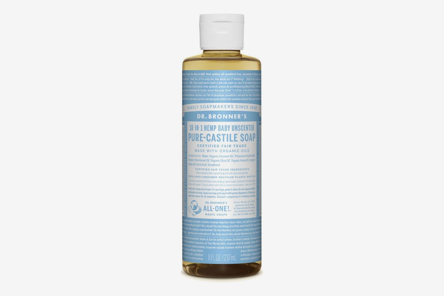 Dr. Bronner's Pure-Castile Liquid Soap, Baby Unscented