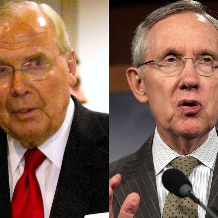 Jon Huntsman Sr and Harry Reid.