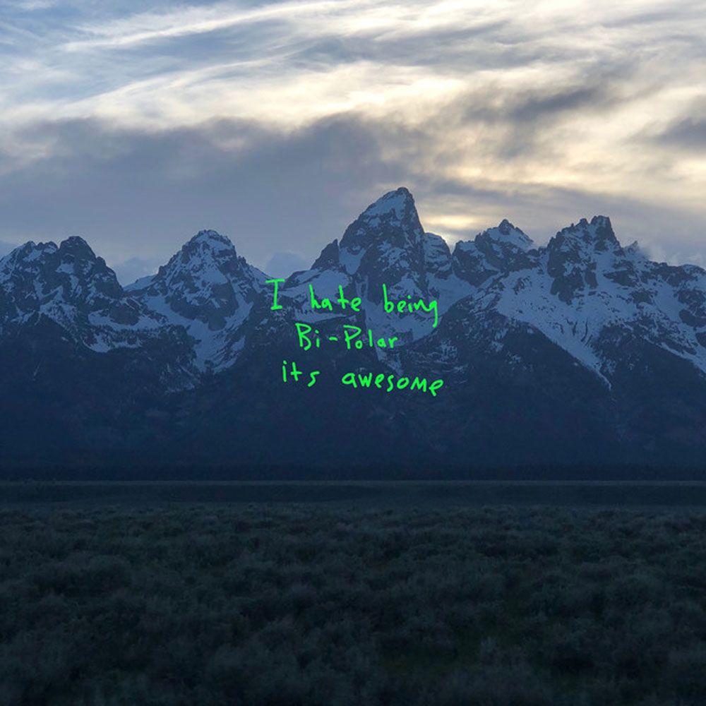 Je déteste être bi-polaire il est génial Kanye West YE 2018 Album Cover Unisexe T-Shirt