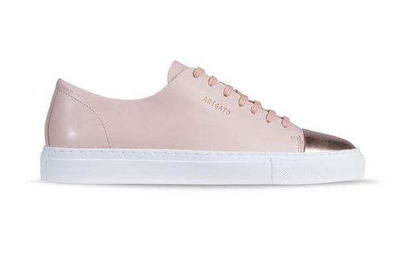 Axel Arigato Cap-Toe Leather and Metallic Sneakers
