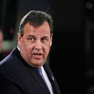 KEANSBURG, NJ - FEBRUARY 04: New Jersey Gov. Chris Christie speaks during a press conference with families affected by Superstorm Sandy at a lounge in the New Point Comfort Fire Company on February 4, 2014 in Keansburg, New Jersey. Christie, whose governorship is being threatened by a scandal is facing federal investigation over use of Sandy funds. (Photo by Kena Betancur/Getty Images)