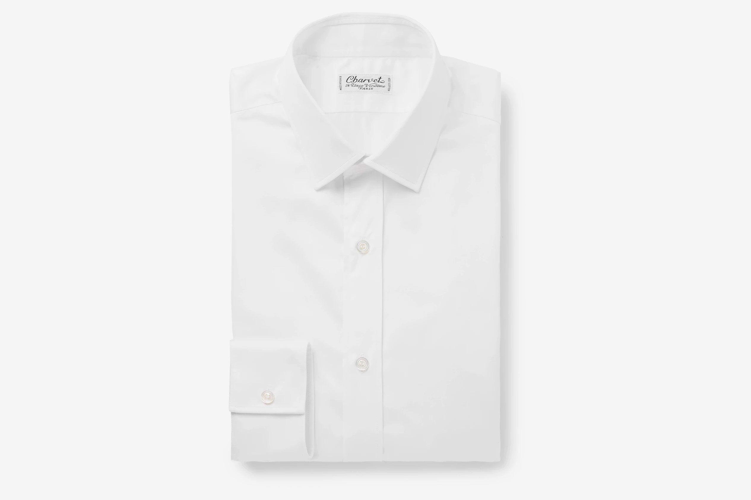 Charvet White Cotton-Satin Shirt