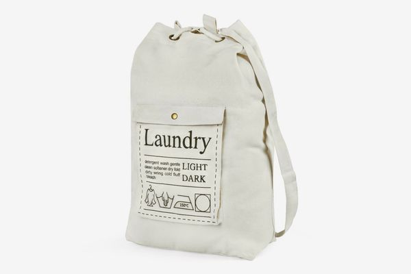 HBlife Spacious Drawstring Cotton Canvas Laundry Bag