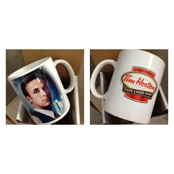 His mug on a mug.