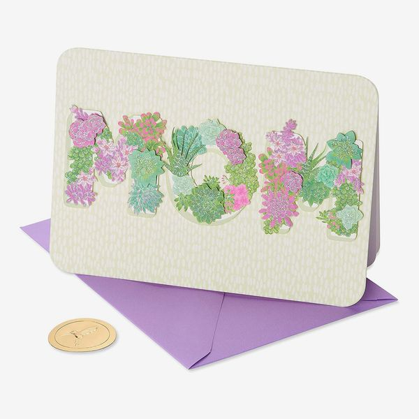 Papyrus Floral Lettering Mother's Day Card