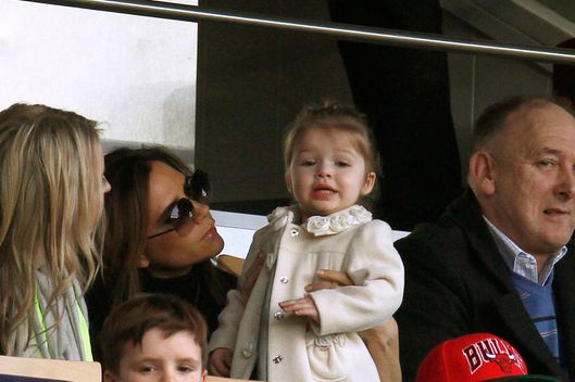 David Beckham's family attend the PSG vs Nancy game in Paris.<P>Pictured: Victoria Beckham, Cruz Beckham, Romeo Beckham, Harper Beckham and Ted Beckham<P><B>Ref: SPL507768  100313  </B><BR/>Picture by: KCS Presse / Splash News<BR/></P><P><B>Splash News and Pictures</B><BR/>Los Angeles:	310-821-2666<BR/>New York:	212-619-2666<BR/>London:	870-934-2666<BR/>photodesk@splashnews.com<BR/></P>