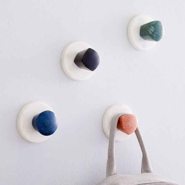 West Elm Marble Medley Wall Hooks (Set of 4)