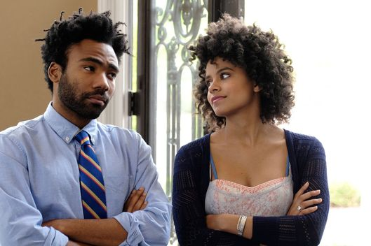 "ATLANTA -- ""Juneteenth"" -- Episode 9 (Airs Tuesday, October 25, 10:00 pm e/p) Pictured: (l-r) Donald Glover as Earnest Marks, Zazie Beetz as Van. CR: Guy D'Alema/FX"