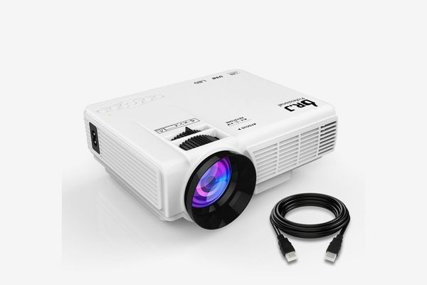 """DR.J +10% Lumens 4-Inch Mini Projector With 170"""" Display"""