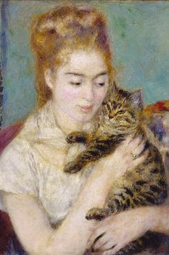 "Pierre Auguste Renoir, ""Woman With a Cat"""