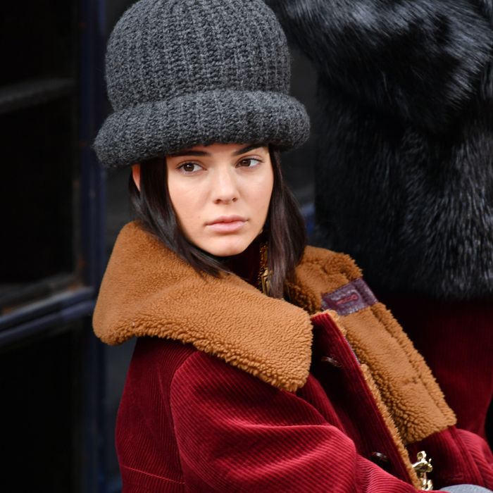 aa2292d87cf Kendall Jenner at Marc Jacobs Fall 2017. Photo  Slaven Vlasic Getty Images for  Marc Jacobs