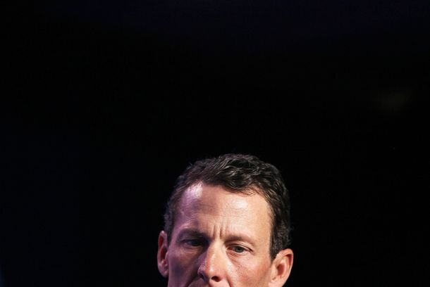 NEW YORK - SEPTEMBER 22:  Lance Armstrong, cyclist and founder and chairman of LIVESTRONG, looks on during the annual Clinton Global Initiative (CGI) September 22, 2010 in New York City. The sixth annual meeting of the CGI gathers prominent individuals in politics, business, science, academics, religion and entertainment to discuss global issues such as climate change and the reconstruction of Haiti. The event, founded by former U.S. President Bill Clinton after he left office, is held the same week as the General Assembly at the United Nations, when most world leaders are in New York City.  (Photo by Mario Tama/Getty Images) *** Local Caption *** Lance Armstrong