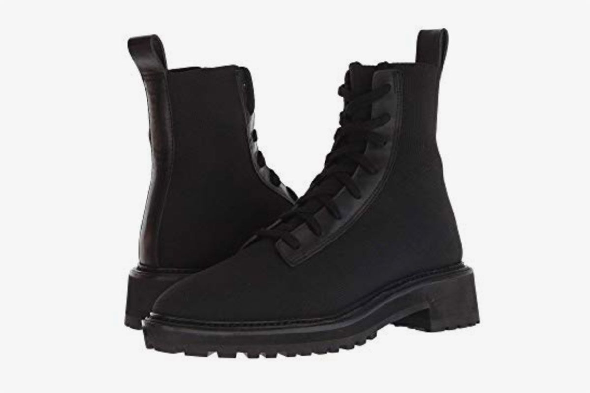 Loeffler Randall Brady Stretch Knit Combat Boot