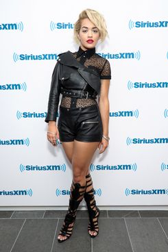 NEW YORK, NY - APRIL 21:  Singer Rita Ora visits at SiriusXM Studios on April 21, 2014 in New York City.  (Photo by Rommel Demano/Getty Images)