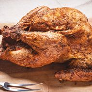 Jake Dickson and Robbie Richter Offering Pit-Smoked Thanksgiving Birds