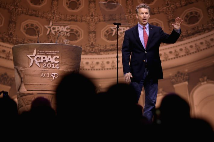 Sen. Rand Paul (R-KY) takes the stage before addressing the Conservative Political Action Conference at the Gaylord International Hotel and Conference Center March 7, 2014 in National Harbor, Maryland.